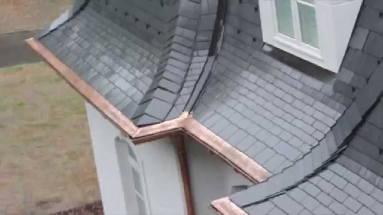 Phalanx Copper Gutter Guard Water Flow
