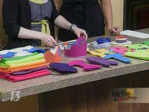 craftsanity on tv making birthday party favors youtube