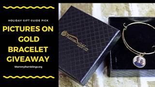 Pictures on Gold Expandable Bracelet with Photo Charm Giveaway