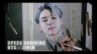[SPEED DRAWING] BTS JIMIN portrait in pastel