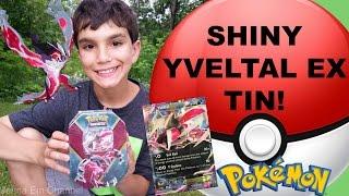 Pokemon Shiny Yveltal EX Kalos Tin Opening! Jenna Em Channel