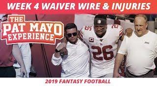 2019 Fantasy Football  Week4 Waiver Wire Rankings Injuries Recap  More