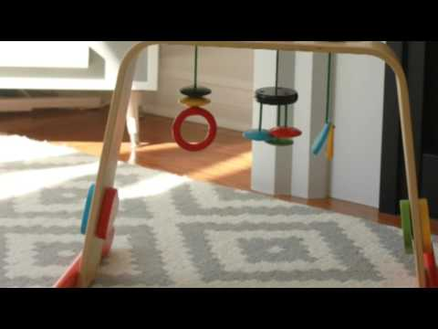 Quick & Easy Wood Baby Gym Ikea Hack