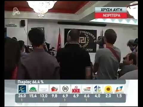 The Greek neonazi party recently elected with 21 seats, tells the journalists to stand up