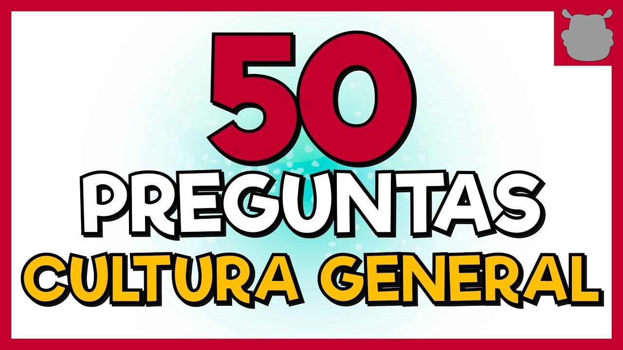 CULTURA GENERAL 😲 50 PREGUNTAS - (Nivel Difícil)