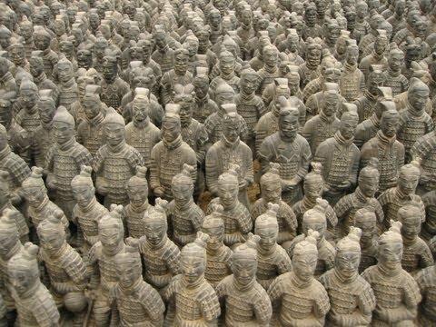 China Terrakotta Armee Mausoleum Qin Shihuangdis Qín Shǐhuángdìs Xi'an Xian 西安