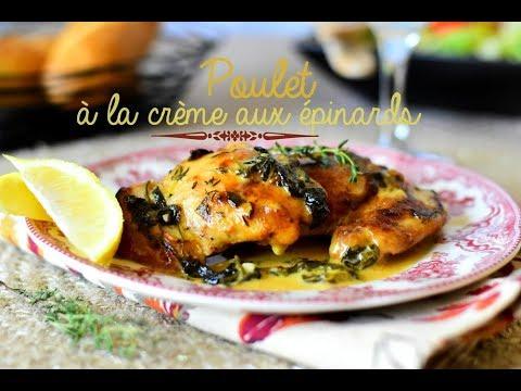 poulet-à-la-crème-aux-épinards-/-lemon-butter-chicken
