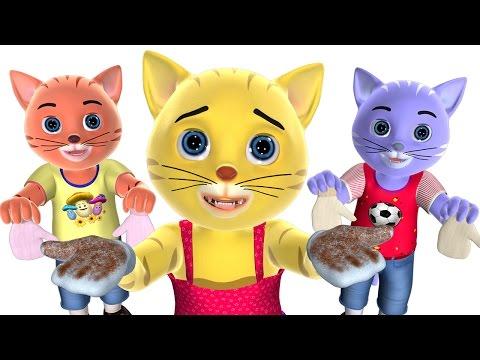 Three Little Kittens Nursery Rhyme | Baby Songs | 3D English Nursery Rhymes for Children