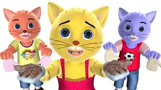 Repeat youtube video Three Little Kittens Nursery Rhyme | Baby Songs | 3D English Nursery Rhymes for Children
