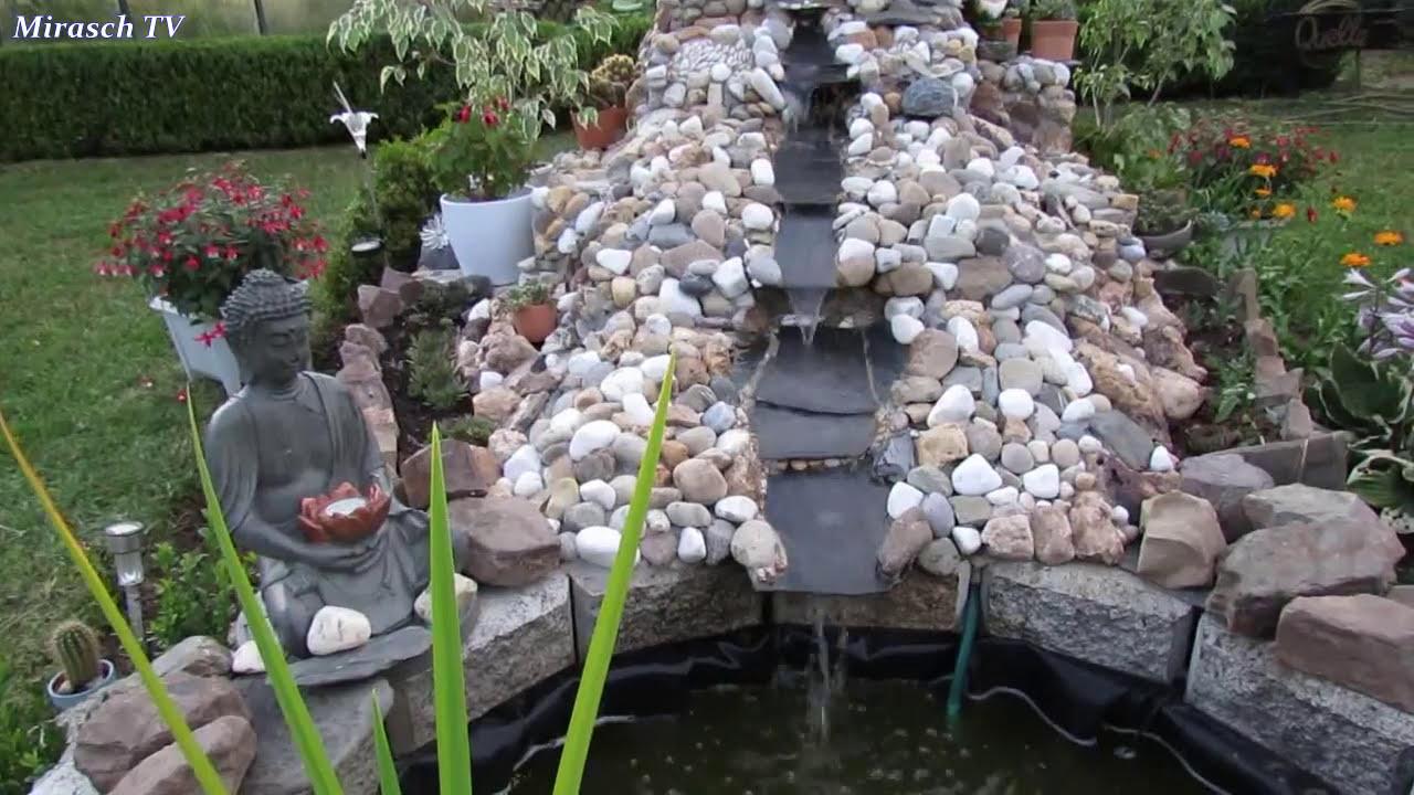 Gartengestaltungsideen   Wasserfall Im Garten Juli 2014   YouTube