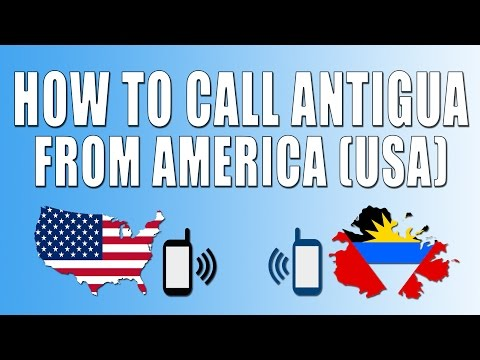 How To Call Antigua From America (USA)