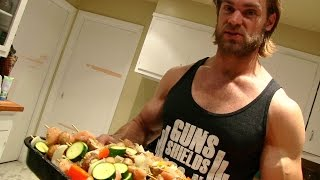 Bbq Grilled Chicken & Veggie Skewers Recipe