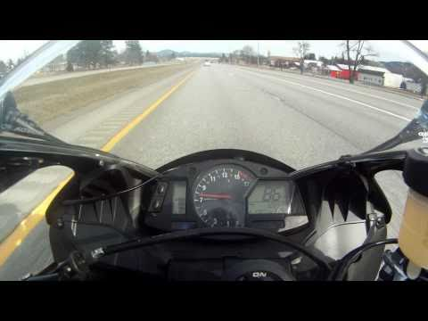 2009 Honda CBR600RR on Freeway 150mph