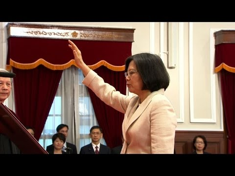 Taiwan's Tsai takes office as hostile Beijing looks on