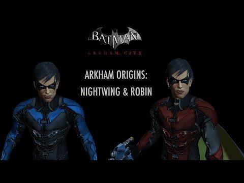 Skin Batman Arkham City Arkham Origins Robin Nightwing