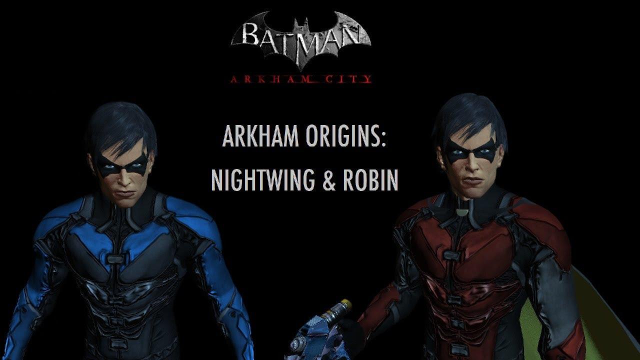 skin batman arkham city arkham origins robinnightwing