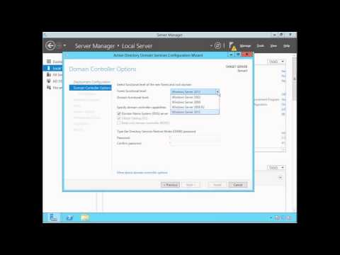 Active Directory (ADDS) Installation & Configuration - Windows Server 2012