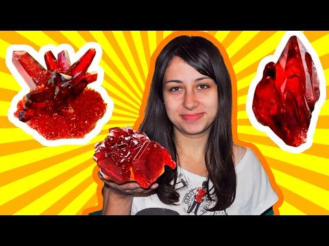 How to grow beautiful Red crystal of salt at home!