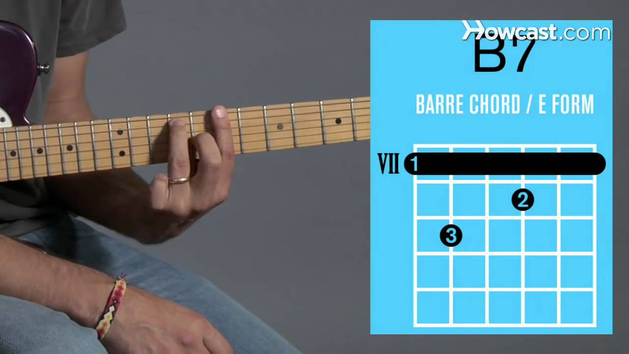How to Play a B7 Barre Chord : Guitar Lessons - YouTube