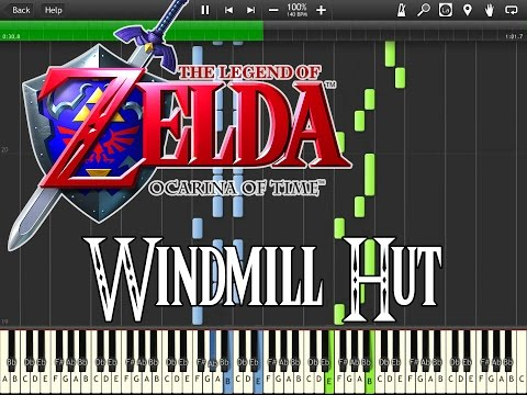 Zelda Ocarina Of Time - Windmill Hut (Synthesia)