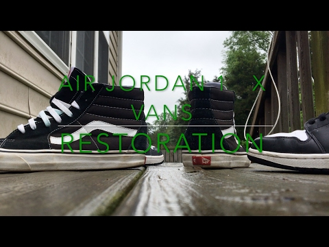 Air Jordan 1 Black/ White x Vans Sk8 Hi Restoration