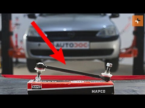 How to replace Front Anti Roll Bar Link on OPEL CORSA C TUTORIAL | AUTODOC