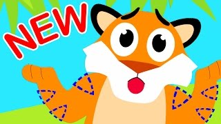 🔴 Where Are My Stripes? Tiger Boo Boo Lost his Stripes! by Little Angel: Kids Songs