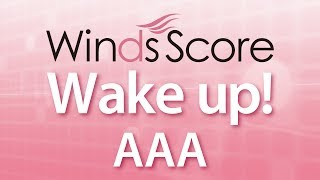 WSJ-14-007 Wake up!/AAA(吹奏楽J-POP)