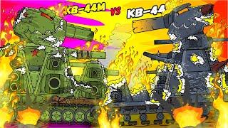 Финал схватки Советского КВ-44М против Демонического КВ-44 - Мультики про танки