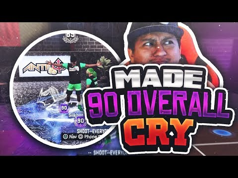 MADE HIM CRY LOST ON PURPOSE HITTING 90 OVERALL With UGLY JUMPSHOT - NBA 2K18 RAGE