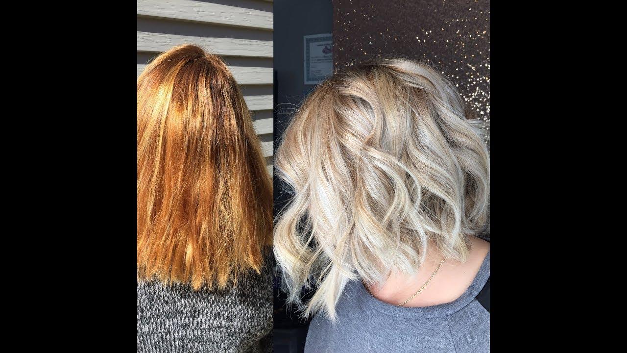 Enlever la couleur roux des cheveux