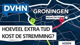 Help, de zuidelijke ring van Groningen gaat dicht! Hoeveel extra reistijd kost dat?