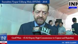 INI NEWS GUJARAT - GEOFF WAIN - DEPUTY HIGH COMMISSIONER TO GUJARAT AND RAJSTHAN (U.K.)