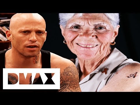 80 Year Old Woman Gets Her First Tattoo! | Miami Ink