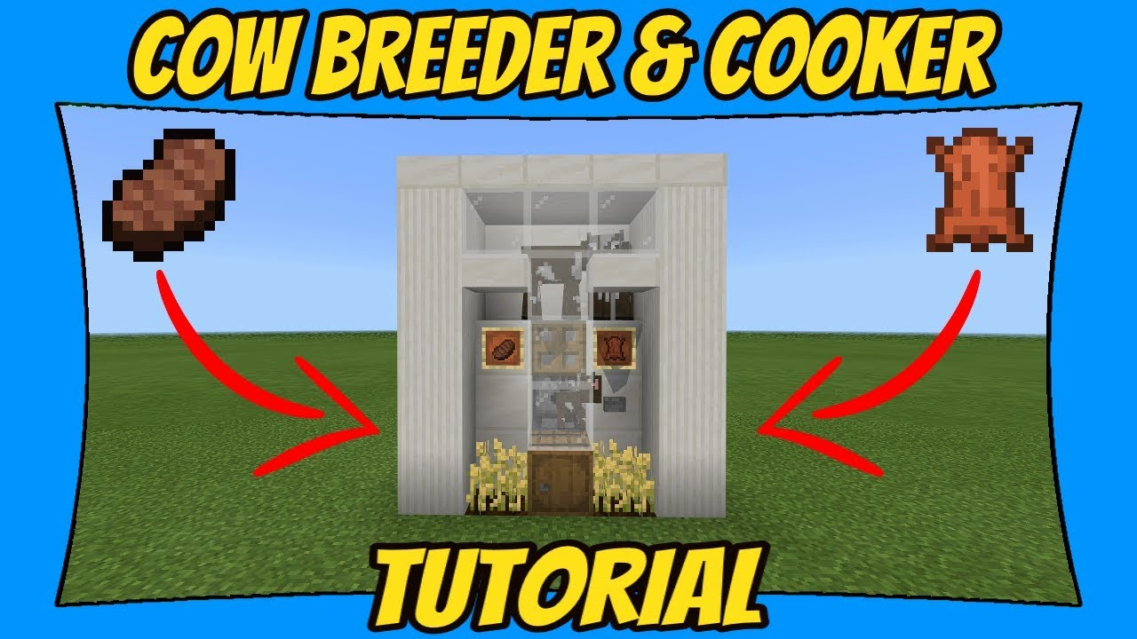 How To Build A Cow Farm Minecraft Bedrock Edition Youtube