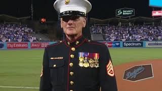 Dodgers Military Hero of the Game!                                        Staff Sergeant Bill Hutton
