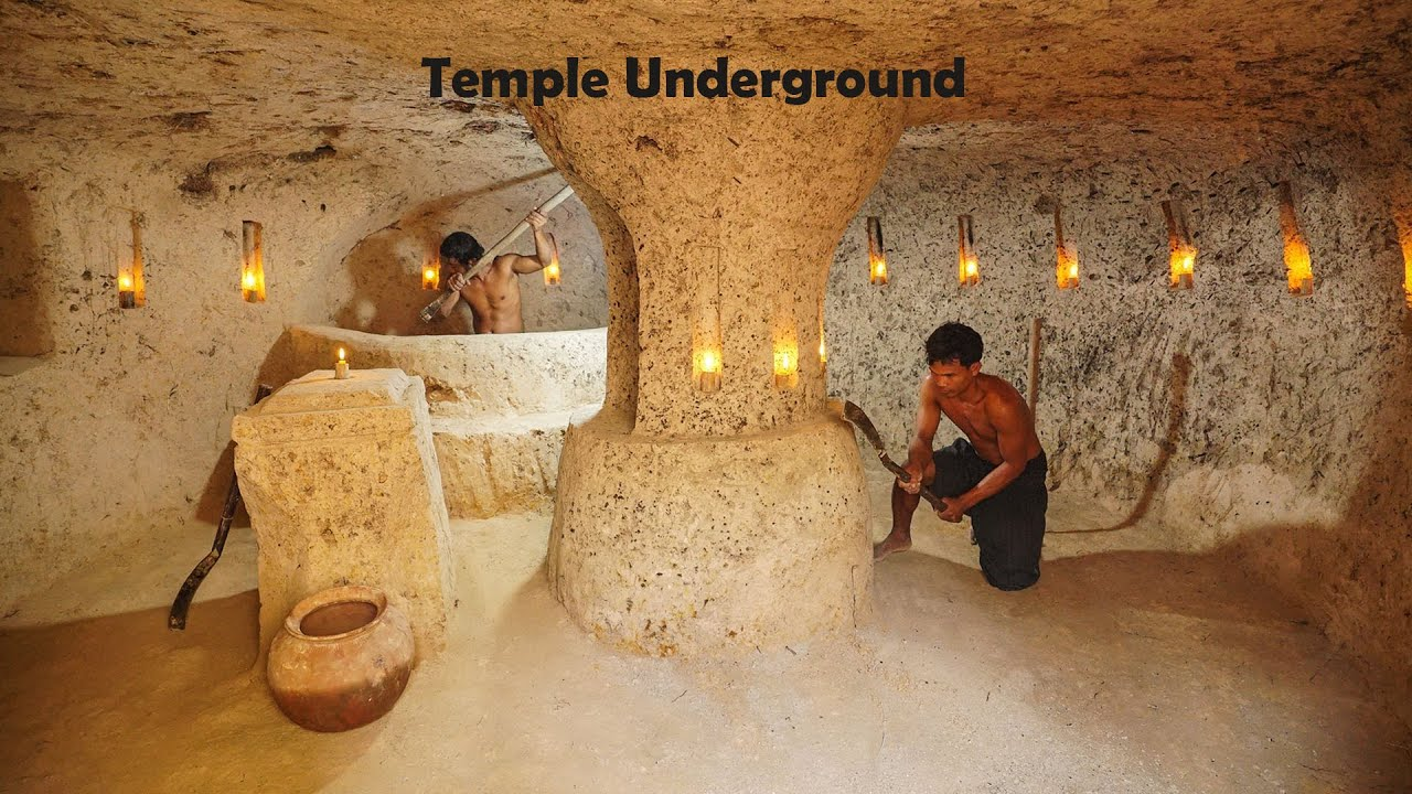 How To Build The Most Temple Underground House And Bath Pool Part 01