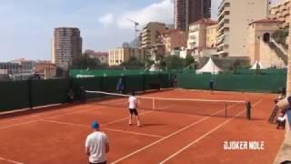 Novak Djokovic & Stan Wawrinka Practice - Monte Carlo 2017 (HD)
