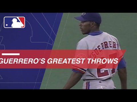 New Hall of Famer Vladimir Guerrero shows off his arm