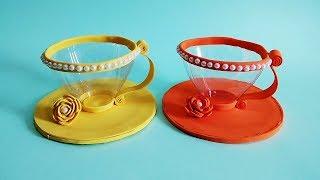 How to Transform Plastic Bottle Into Beautiful Tea Cup | Plastic Bottle Craft Ideas