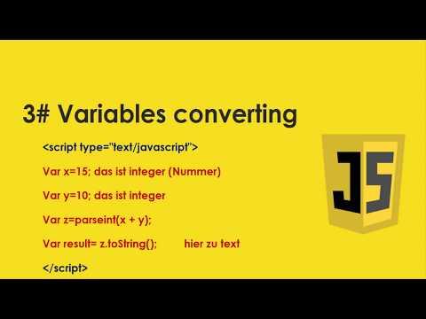 JavaScript Tutorial für Anfänger | #2 - Variable | Typen | Funktionen thumbnail