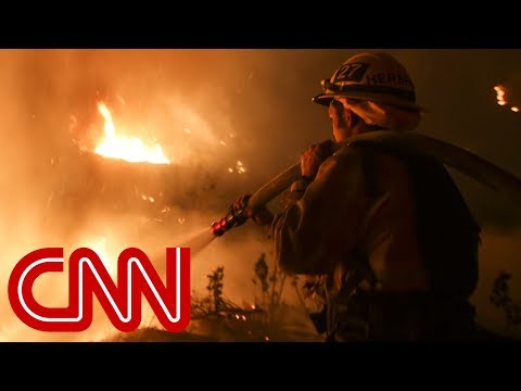 Fast-moving wildfire threatens Los Angeles-area homes