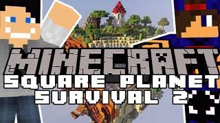 ☠️ Statek Piracki i Wioska Wiedźm ☠️ Minecraft: Square Planet Survival 2 #08 w/ @Wojtusialke