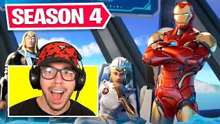New *SEASON 4* BATTLE PASS in Fortnite! (IRON MAN)