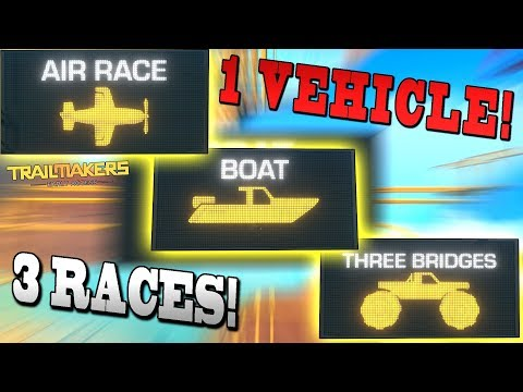 1-vehicle-3-races!-[car/plane/boat]---trailmakers-early-access-gameplay-ep35