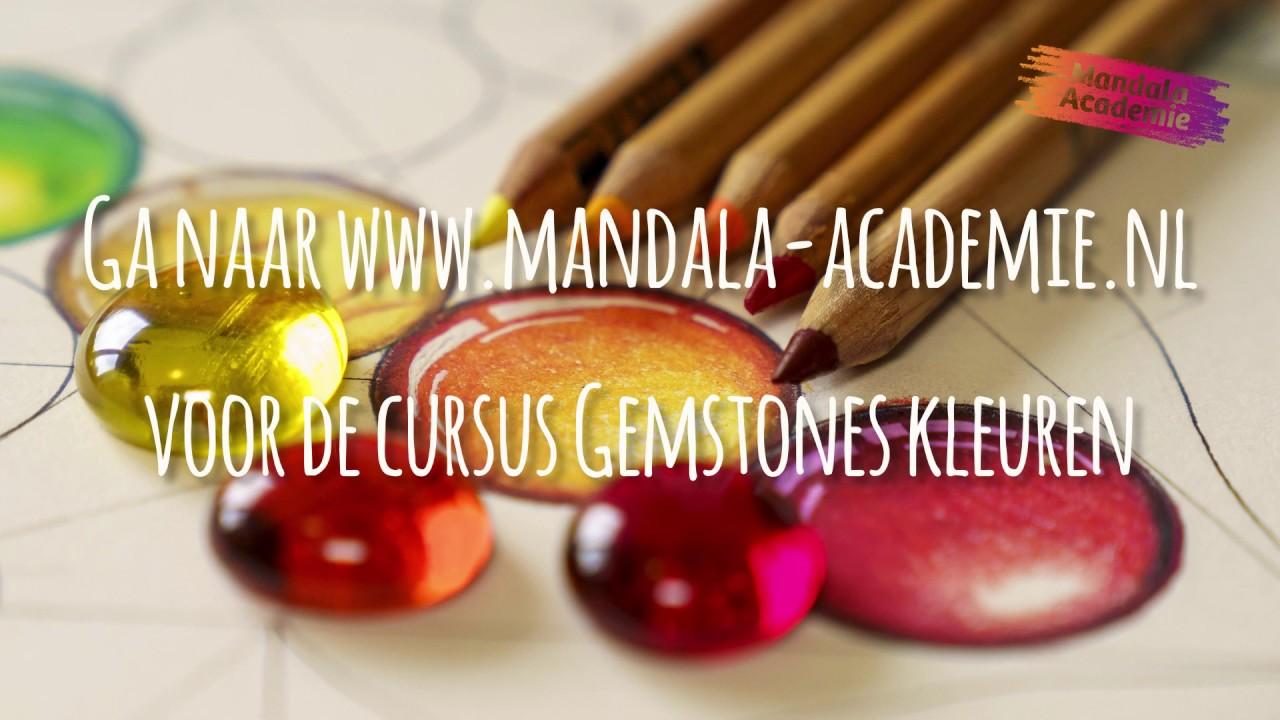 Cursus: Gemstones/Edelstenen kleuren in je mandala