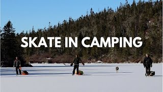 Skate-In Backcountry Winter Camping