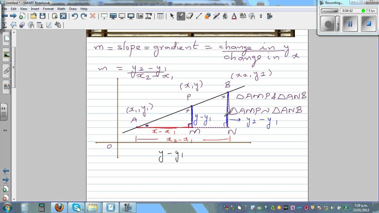 point slope form derivation  Proof of point-slope or point- point form of equation of a line