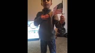The pledge of allegiance.