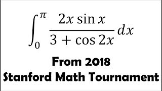 Beautiful Integral from Stanford Math Tournament